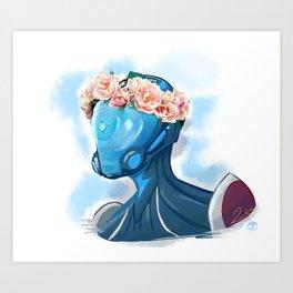 Mag FlowerCrown Art Print