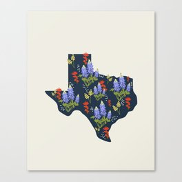 Lone Star State of Flowers Canvas Print