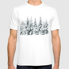 Snow Porn MEDIUM White Mens Fitted Tee