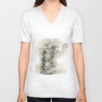 bath V-neck T-shirts featuring Tea bath by Julia Kisselmann