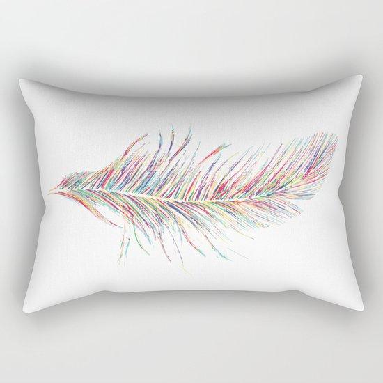 Rainbow Feather  Rectangular Pillow