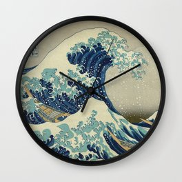 Great Wave Off Kanagawa (Kanagawa oki nami-ura or 神奈川沖浪裏) Wall Clock