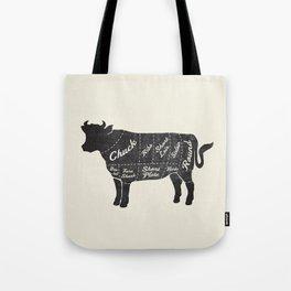 Beef Butcher Diagram Tote Bag