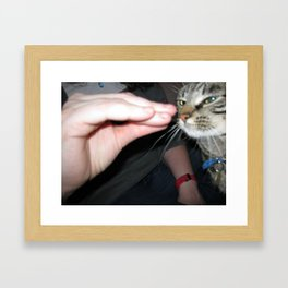 Talk to Hand Rocco Framed Art Print
