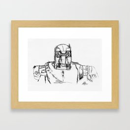 Warbot Sketch #030 Framed Art Print