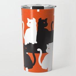 Cat in De Stijl - Halloween Edition Travel Mug