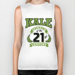 Kale Spinach of the 21st Century Kale Art for Vegans Light Biker Tank