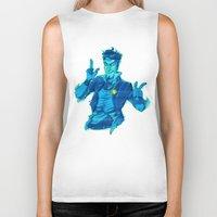 hologram Biker Tanks featuring Hail to the King, Baby by Hyperionism