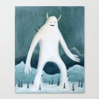 yeti Canvas Prints featuring Yeti by Monster Tea Party