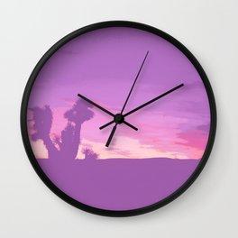 Lavender Joshua Sunset - Pop_Art Wall Clock