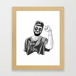 Nick give me a f*ck Framed Art Print