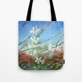 Wildflowers - blue horizon Tote Bag