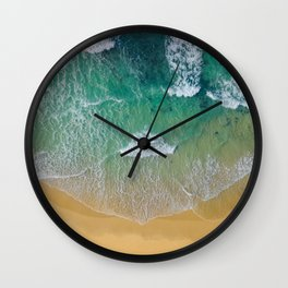 Ocean from the sky Wall Clock