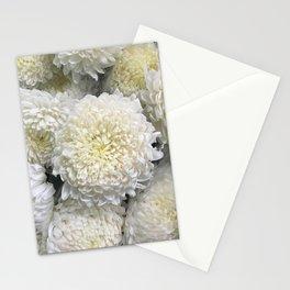 White Chrysanthemums Stationery Cards