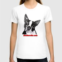 boston terrier T-shirts featuring Boston Terrier by Gooberella