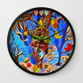 Seasons Every Now & Then I Fall Apart Wall Clock