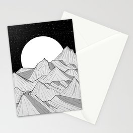 Big moon mounts Stationery Cards