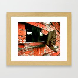Barn Side Framed Art Print