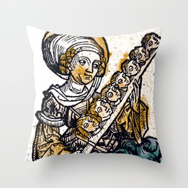 Felicitas with her Seven Sons Throw Pillow