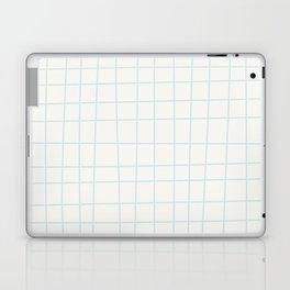 Modern minimalist ivory blush blue geometrical Laptop & iPad Skin