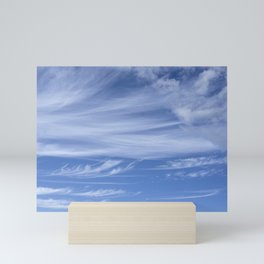 Little wispy clouds Mini Art Print