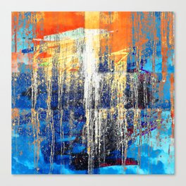Golden Dawn, Abstract Landscape Art Canvas Print