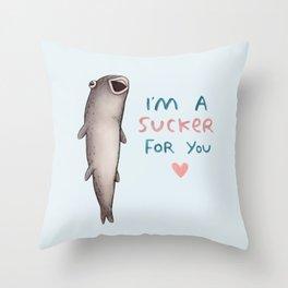 Suckerfish Throw Pillow