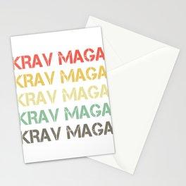 Martial Arts Combat Fighting Military Fighter Krav Maga Vintage Gift Stationery Cards