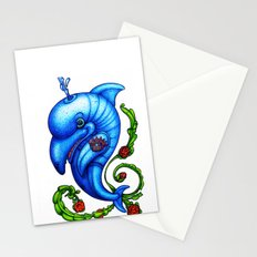 Dolphin Blue Stationery Cards