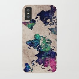 World map watercolor 1 iPhone Case