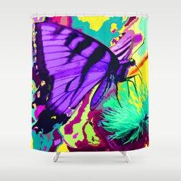 Purple butterfly beauty 1 Shower Curtain