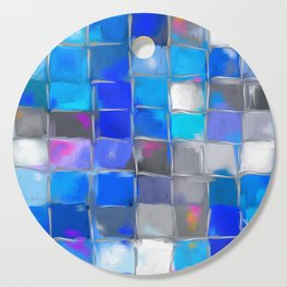 Mosaic / Abstract Art ' BLue SKieS ' BY SHiRLeY MacARTHuR Cutting Board