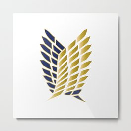 Wings Of Freedom - Gold Edition (Premium) Metal Print