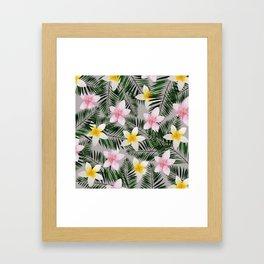 Leave Me Aloha in Grey Framed Art Print