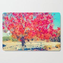 Orange Tree Watercolor digital Cutting Board