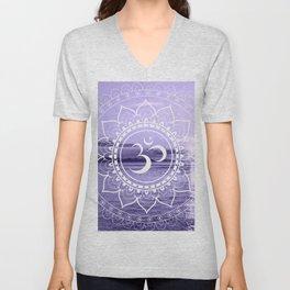 Water Om Mandala Lavender Unisex V-Neck