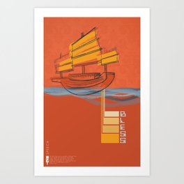 Poster Project | Bless Ship Orange Art Print
