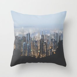 Hong Kong (Pixel Sorted) Throw Pillow