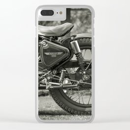 The Vintage Royal Enfield Bullet 350 Motorcycle Clear iPhone Case