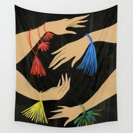 Tasseled Hands Wall Tapestry