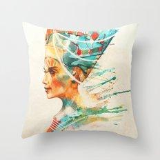Nefertiti Throw Pillow