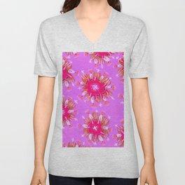 Lilac Christie Rose Unisex V-Neck