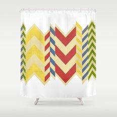 Myriad Chevrons Shower Curtain
