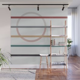 for Love    stripes & circle Wall Mural