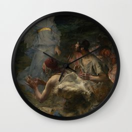 Jules Bastien-Lepage - The Annunciation to the Shepherds Wall Clock