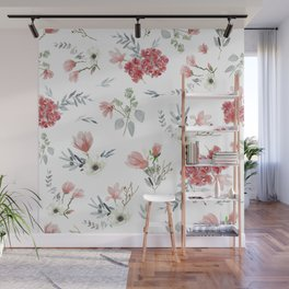 Autumn Floral Pattern Wall Mural