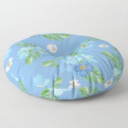 Myosotis pattern Floor Pillow