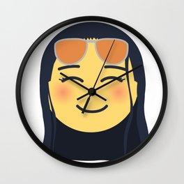 Nico Robin Emoji Design Wall Clock