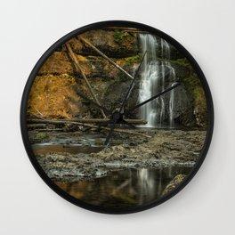 Upper North Falls, Late Summer Wall Clock