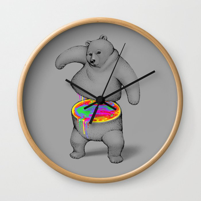 Rainbow Bear Wall Clock